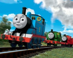 Posterbehang Thomas de trein