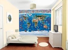 Posterbehang wereldkaart