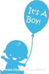 Raamsticker It's a boy