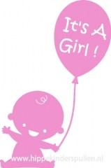 Raamsticker It's a girl