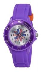 Tikkers teens horloge paars met bloem