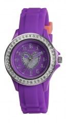 Tikkers teens horloge paars met glitterhart