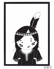 Poster indiaan meisje