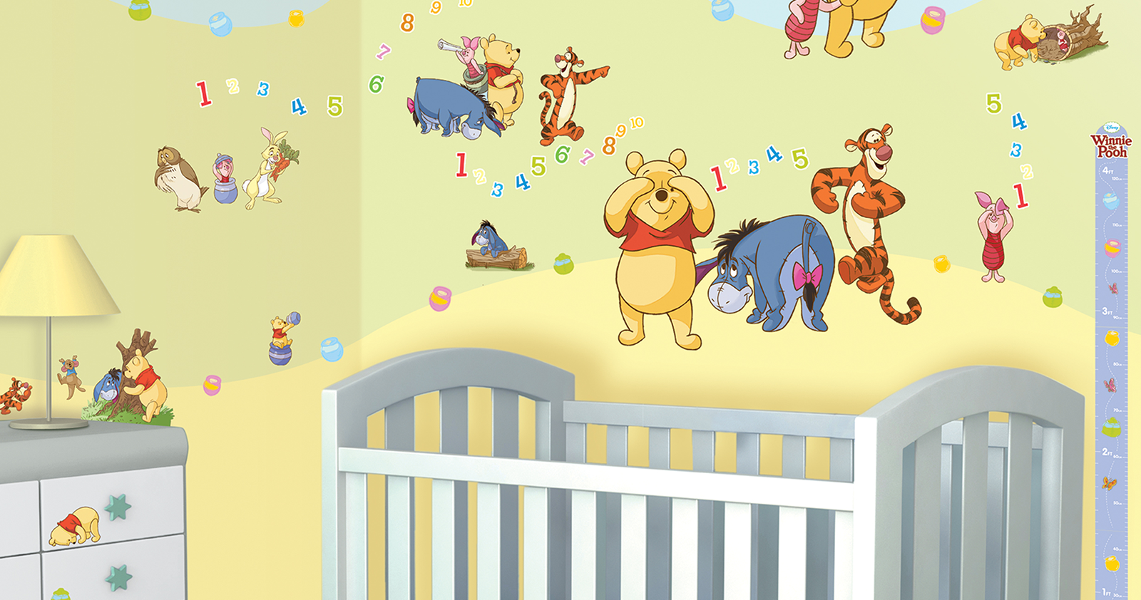 Muursticker winnie the pooh muurstickers - Winnie pooh babyzimmer ...