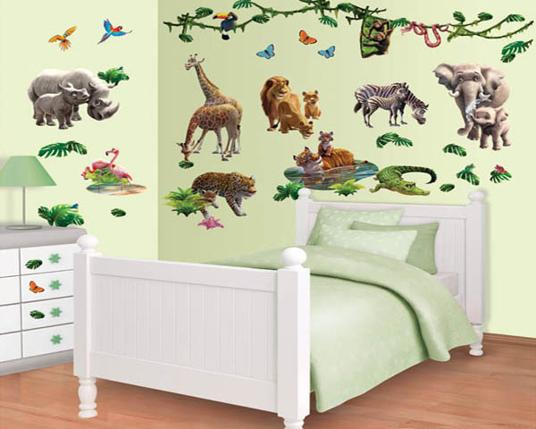 Muurstickers jungle muursticker dieren